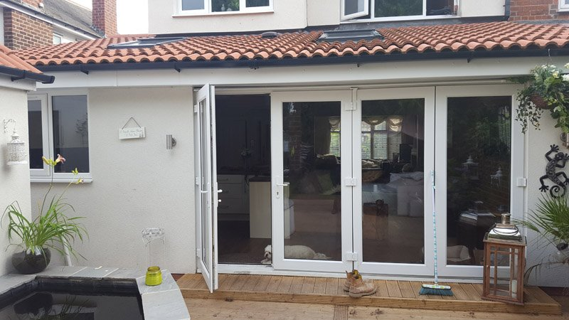 Bi Fold Doors on extension - Wakefield, West Yorkshire