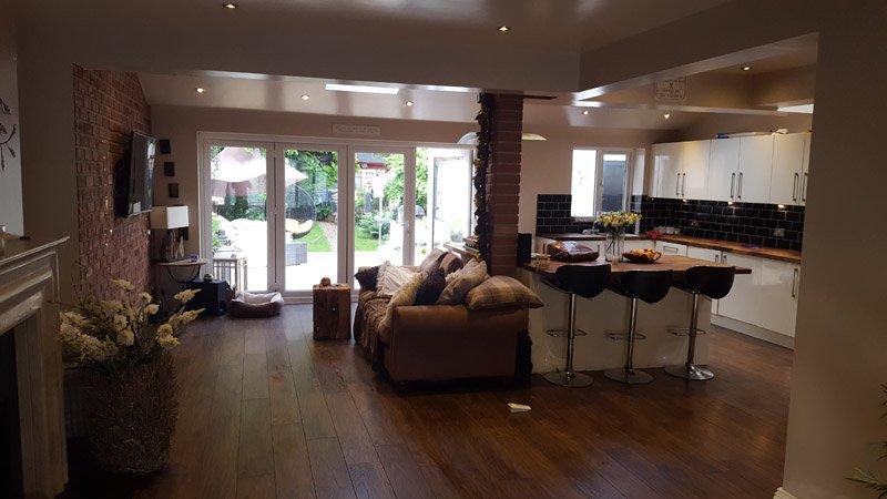 Open Plan kitchen diner extension - - Wakefield, West Yorkshire
