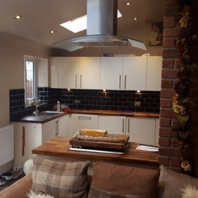kitchen island light extension in Leeds