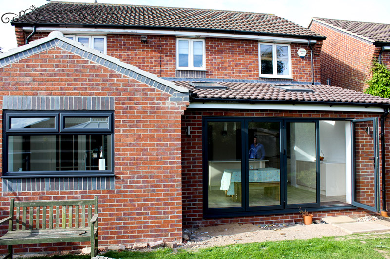 bi fold doors and glass extension castleford