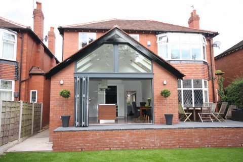 Single Storey Extensionwith glass atrium in leeds