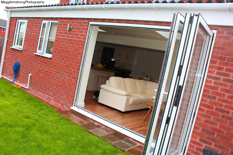 bi fold doors to extension in halifax, west yorkshire