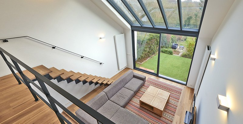 CK Architectural Leeds West Yorkshire - Galzed Doors to Roof Atrium