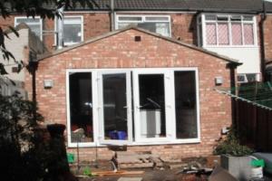 Rear single extension design in Leeds