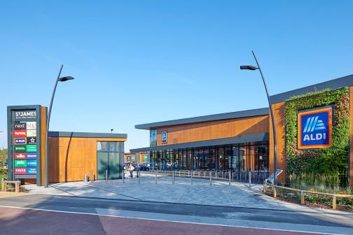 Retail building construction plans in Leeds