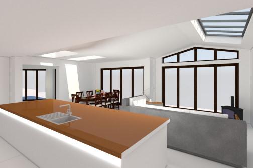 3D house extension design Leeds