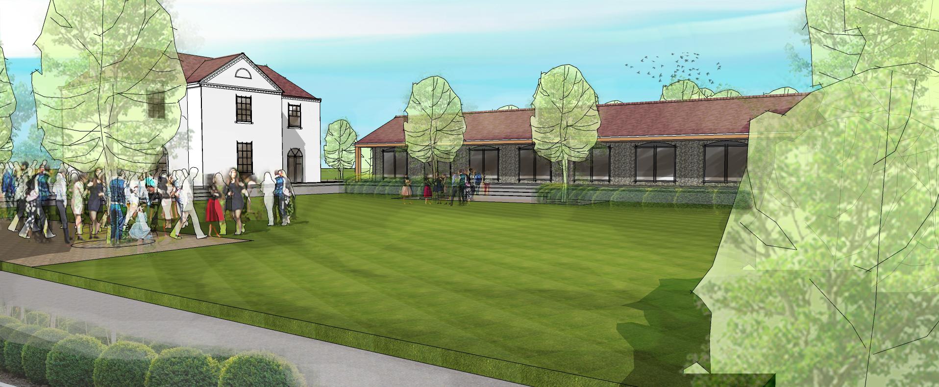 Barn conversion building 3D visualisation Leeds