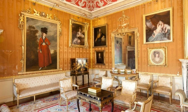 Interior shot of Harewood house