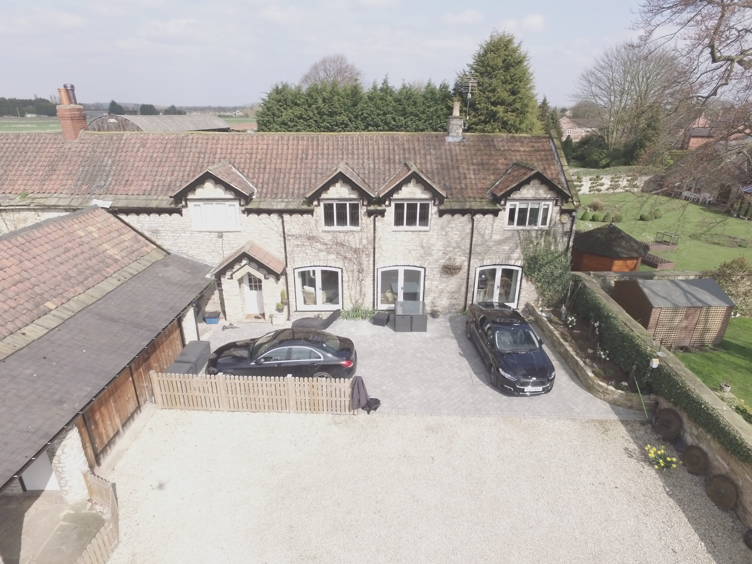 Arial view of property under review for design