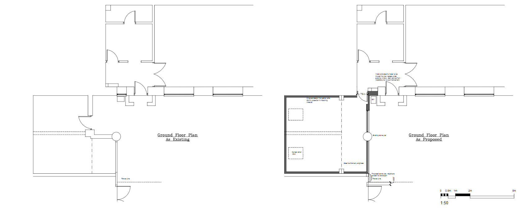 Floor plan f barn conversion done by CK architectural