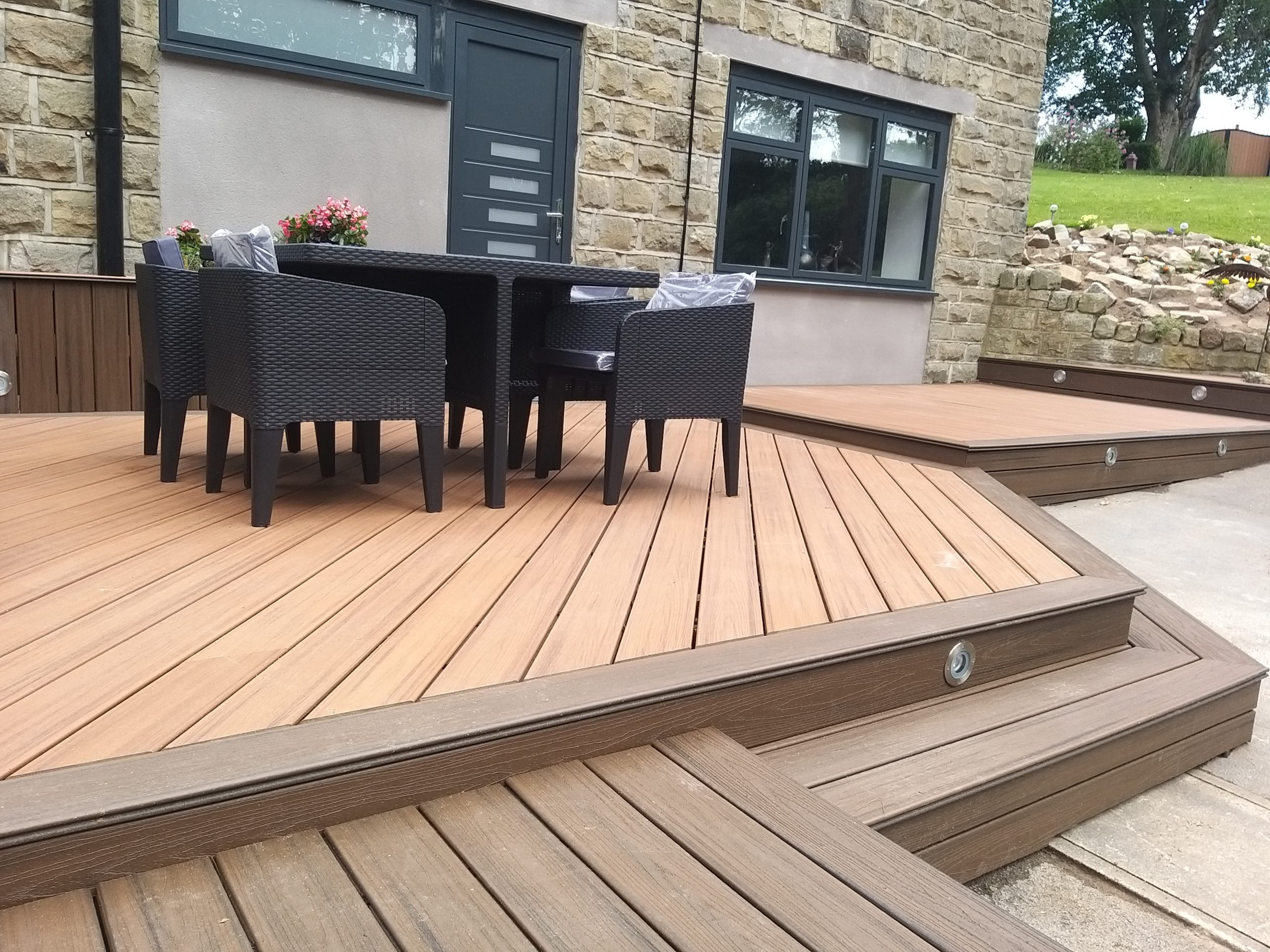 decking area in converted garage