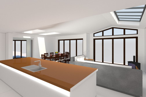 3D visualisation of glass room