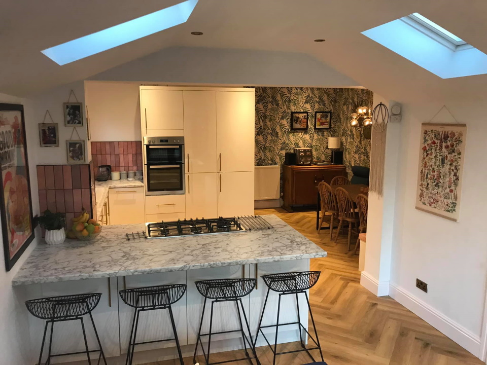 Single storey extension in Kitchen