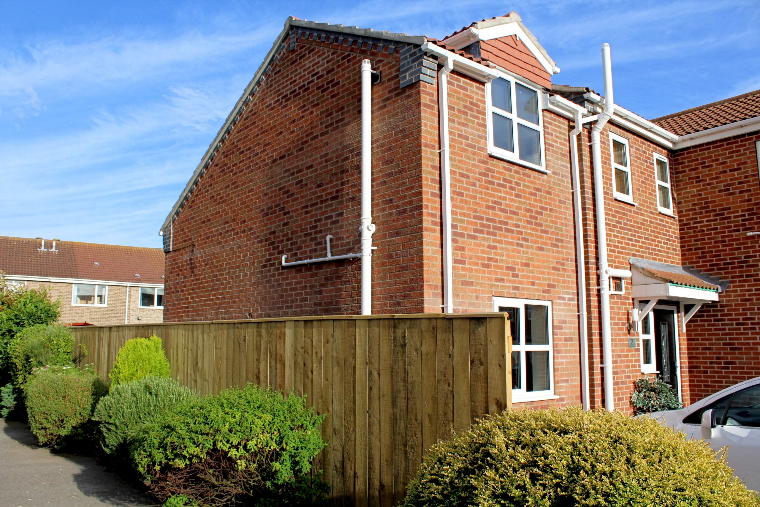 neighbour view of double storey extension