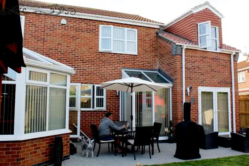Garden view of Leeds double storey extension