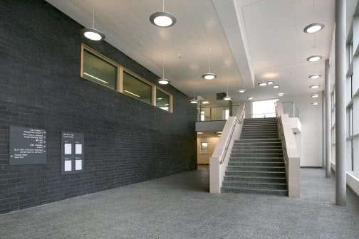 staircase inside school building corridor