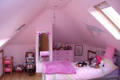 Pink loft conversion in Leeds
