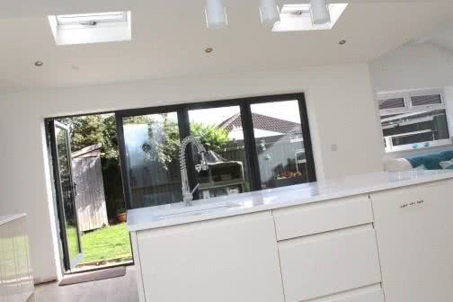 kitchen extension leading on to garden in Leeds