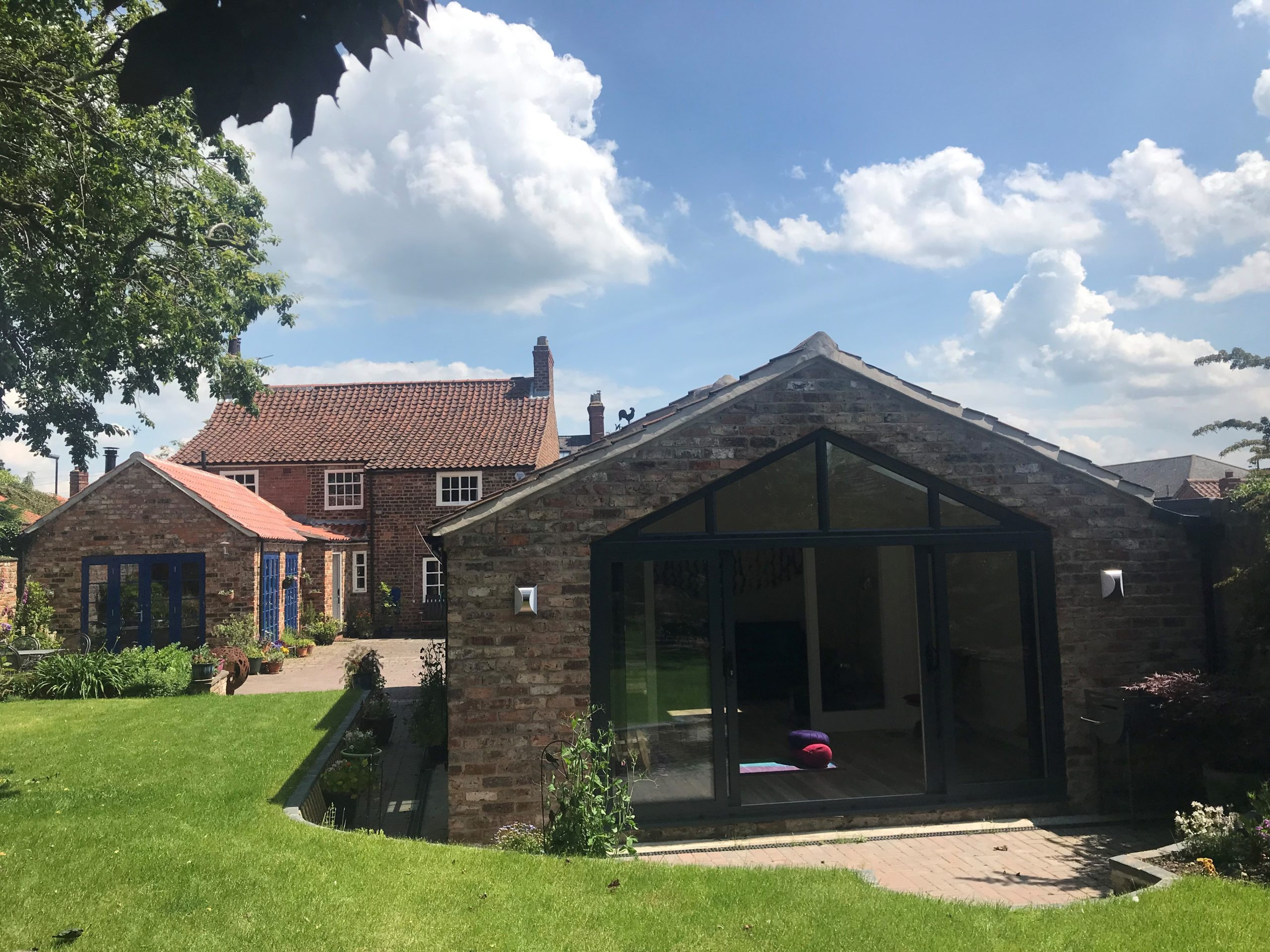 Outside view of garage conversion