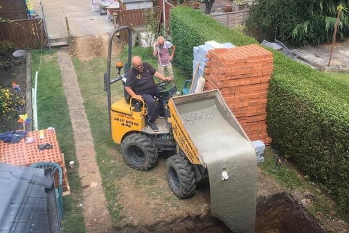 Foundations being laid for renovation work
